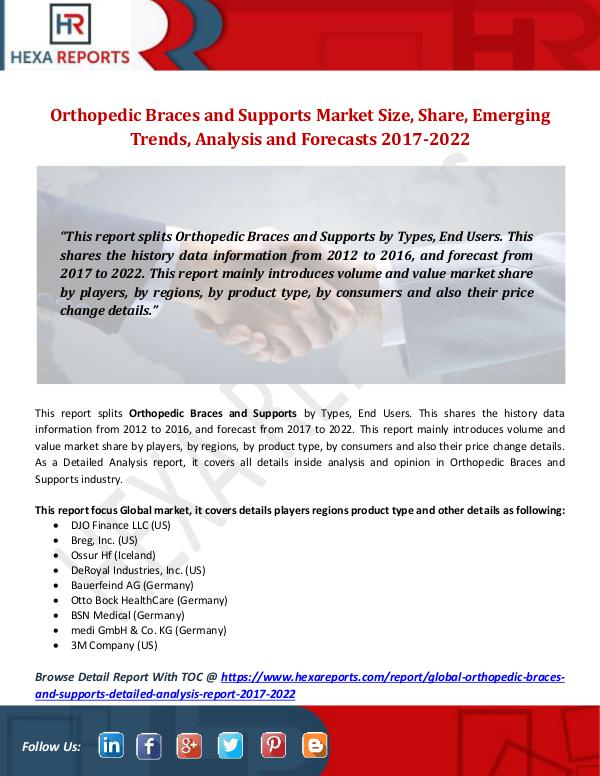 Orthopedic Braces and Supports Market Size, Share,