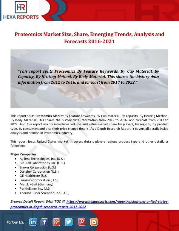 Proteomics Market Size, Share, Emerging Trends, An