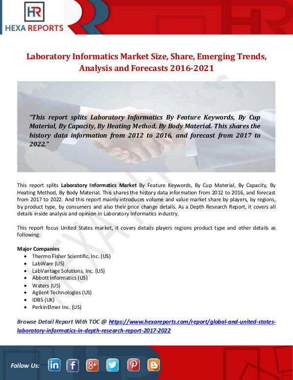 Laboratory Informatics Market Size, Share, Emergin
