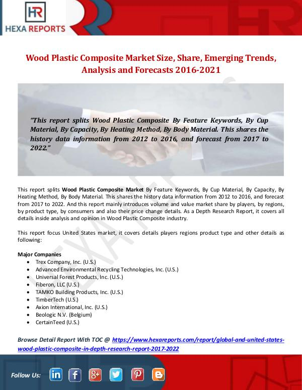 Wood Plastic Composite Market Size, Share, Emergin