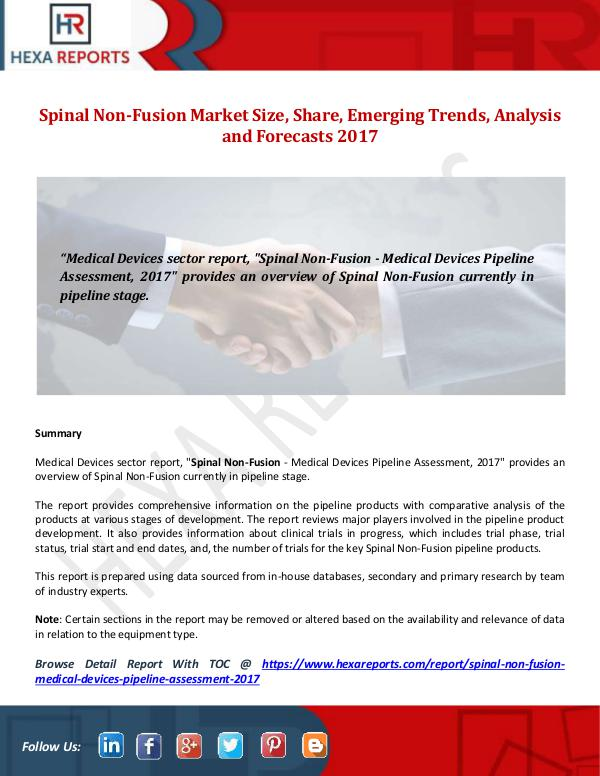 Spinal Non-Fusion Market Size, Share, Emerging Tre