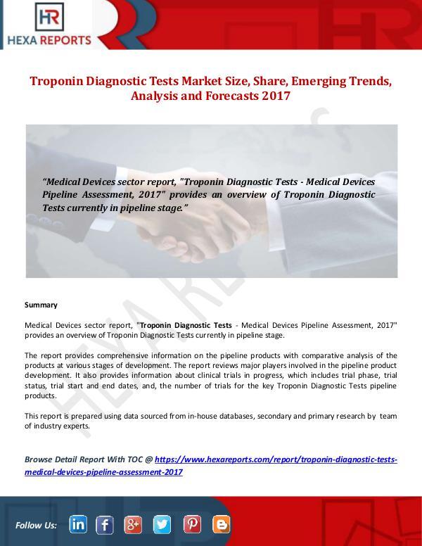 Troponin Diagnostic Tests Market Size, Share, Emer