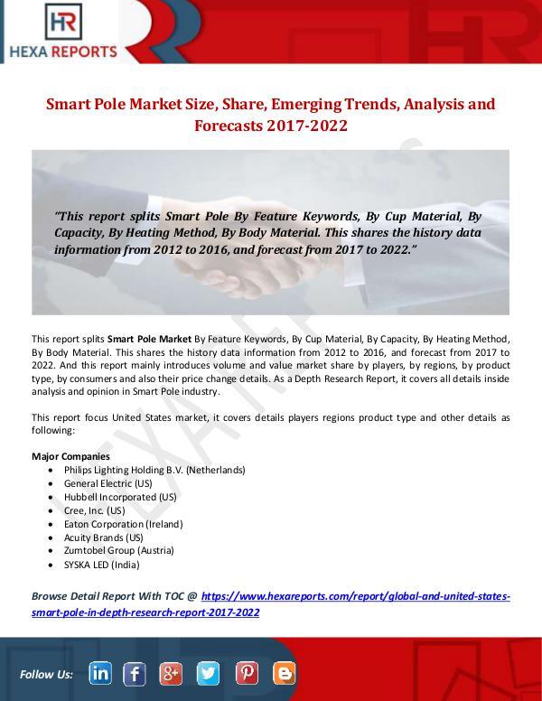 Smart Pole Market Key Components, Share, Market Tr