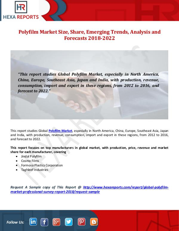 Hexa Reports Polyfilm Market Size, Share, Emerging Trends, Anal