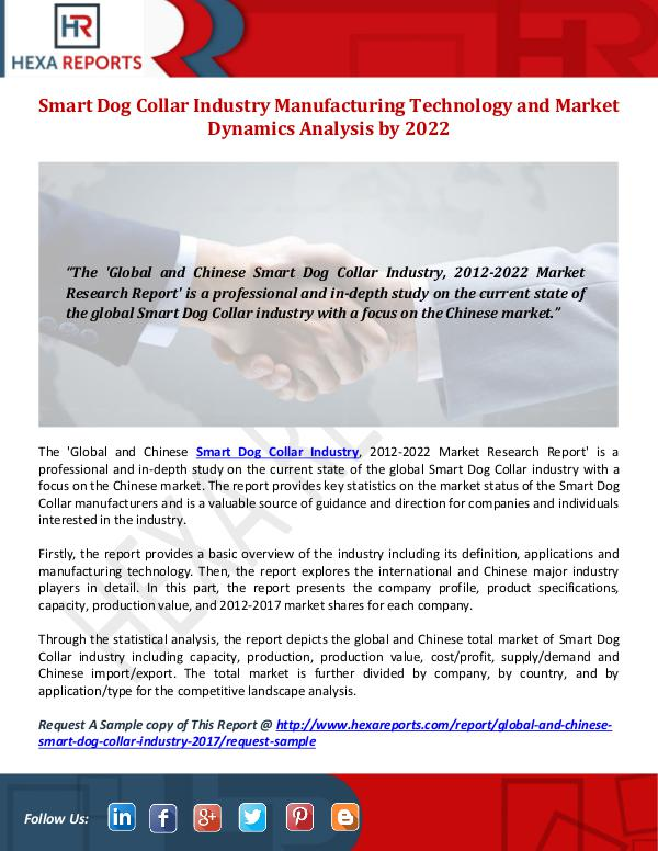 Smart Dog Collar Industry Share, Manufacturing Tec