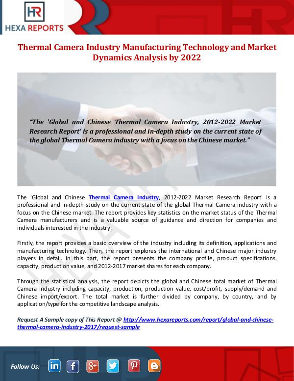 Thermal Camera Industry Share, Manufacturing Techn