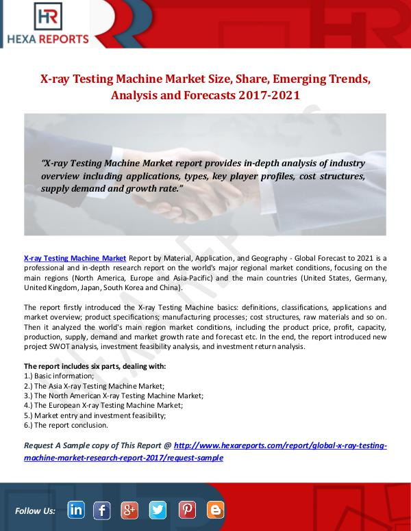 X-ray Testing Machine Market Size, Share, Emerging