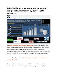 Asia-Pacific to accelerate the growth of the global ATM market by2025