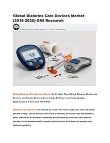 Global Diabetes Care Devices Market (2018-2025)-GMI Research
