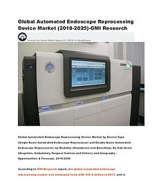Global Automated Endoscope Reprocessing Device Market (2018-2025)