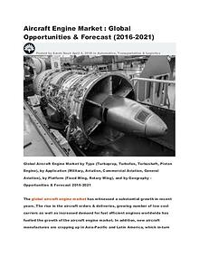 Aircraft Engine Market : Global Opportunities & Forecast (2016-2021)