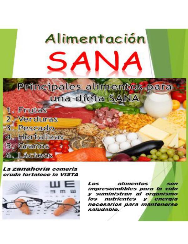 Alimentación Sana Alimentación Sana