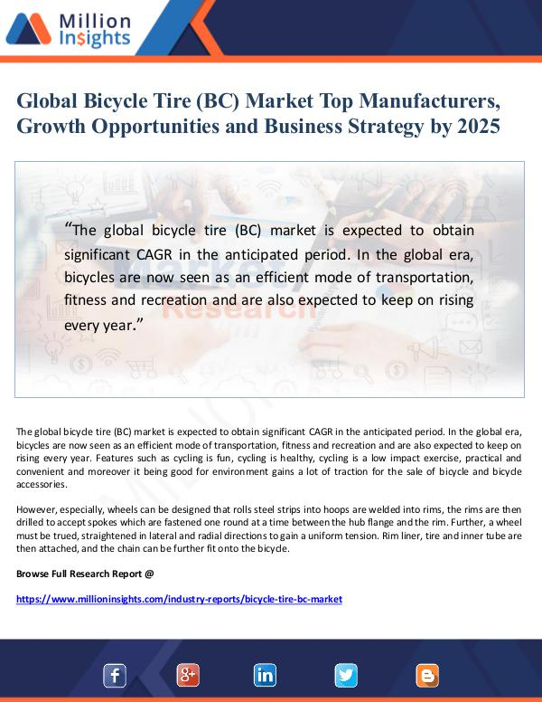 Market Giant Global Bicycle Tire (BC) Market Top Manufacturers,