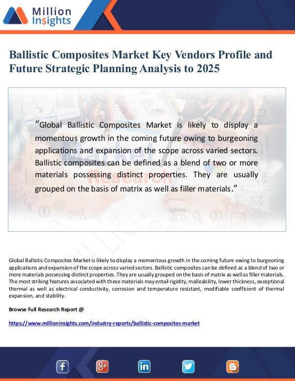 Ballistic Composites Market Key Vendors Profile an