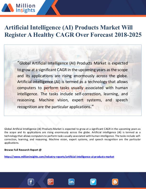 Artificial Intelligence (AI) Products Market Will