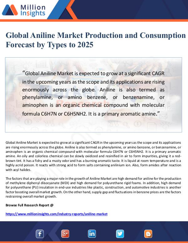 Market Giant Global Aniline Market Production and Consumption F