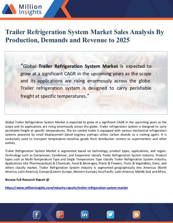 Market Giant Trailer Refrigeration System Market Sales Analysis