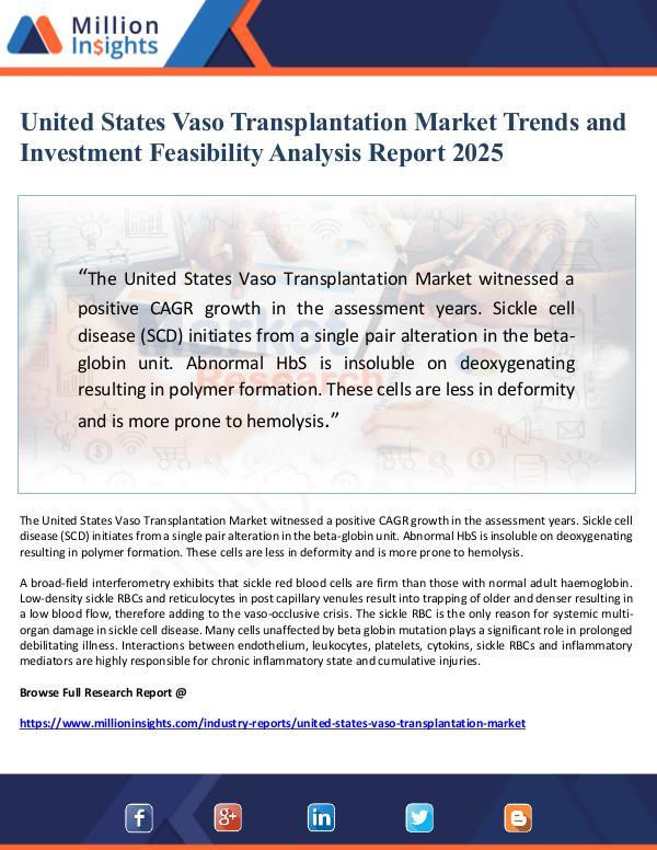 United States Vaso Transplantation Market Trends a