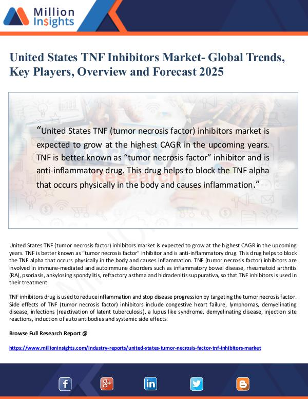 United States TNF Inhibitors Market- Global Trends
