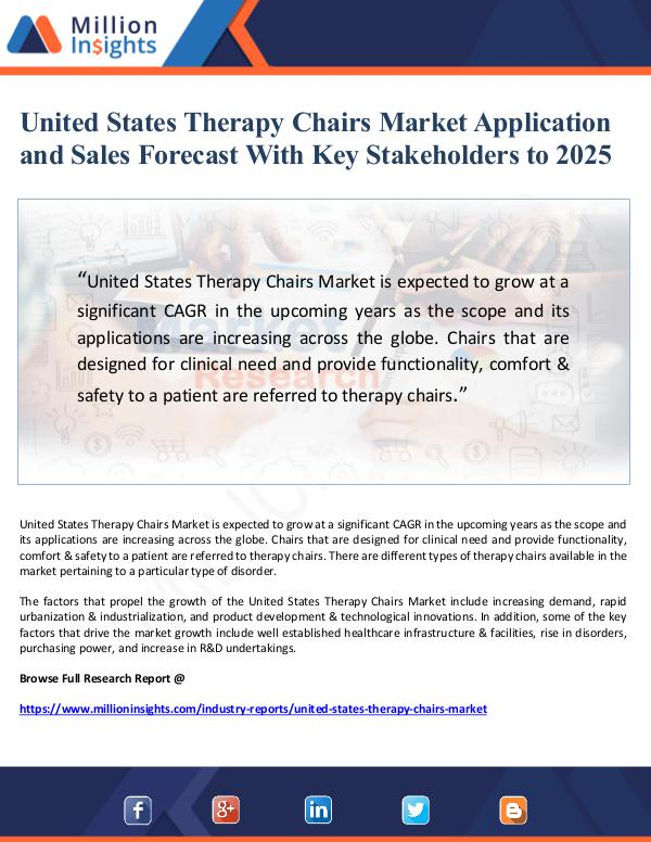 United States Therapy Chairs Market Application an