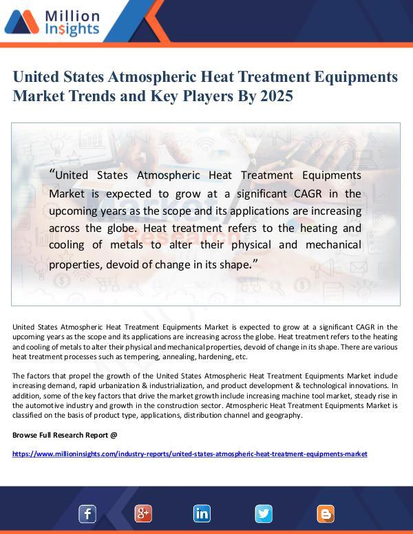 United States Atmospheric Heat Treatment Equipment