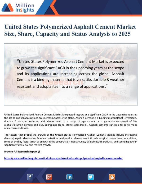 United States Polymerized Asphalt Cement Market Si