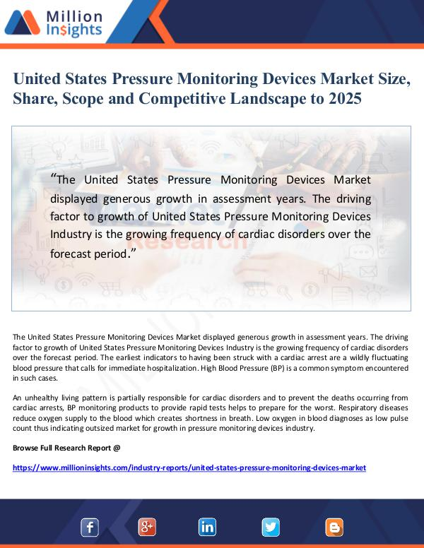 United States Pressure Monitoring Devices Market S