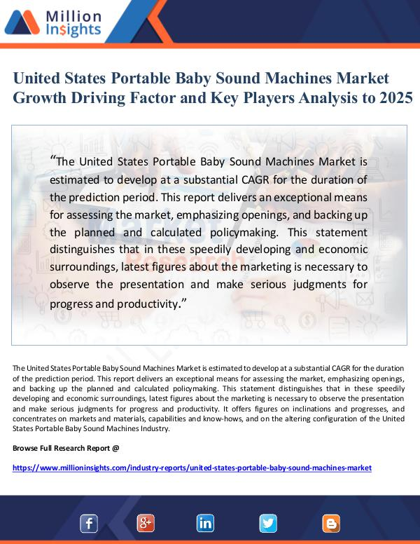 Market Giant United States Portable Baby Sound Machines Market