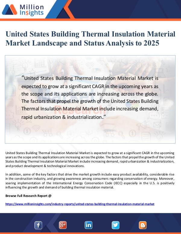 United States Building Thermal Insulation Material