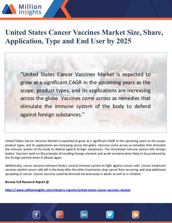 Market Giant United States Cancer Vaccines Market Size, Share,