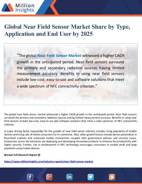 Global Near Field Sensor Market Share by Type, App