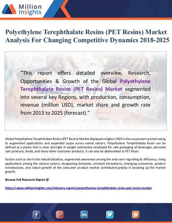 Market Giant Polyethylene Terephthalate Resins (PET Resins) Mar
