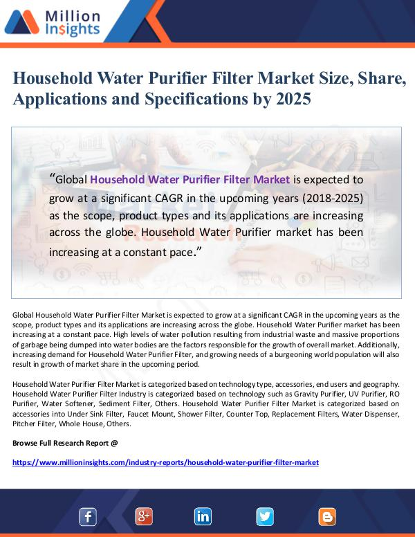Market Giant Household Water Purifier Filter Market Size, Share