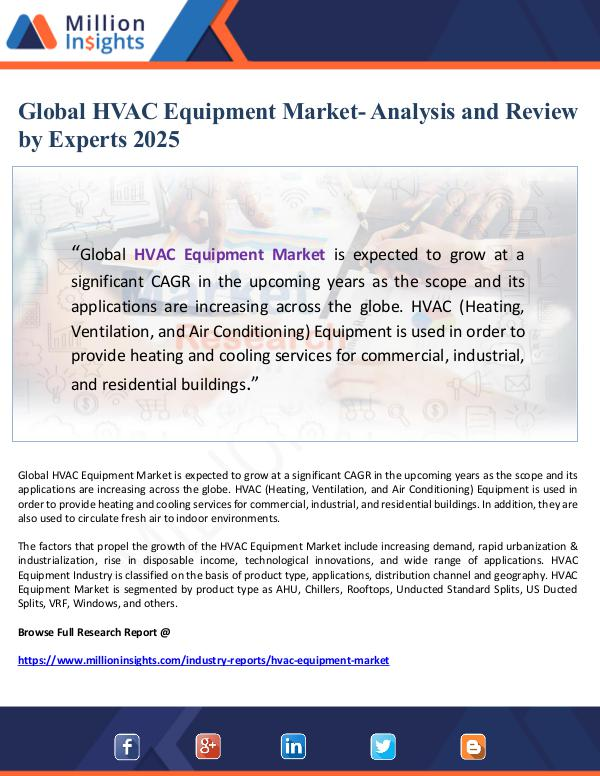 Global HVAC Equipment Market- Analysis and Review