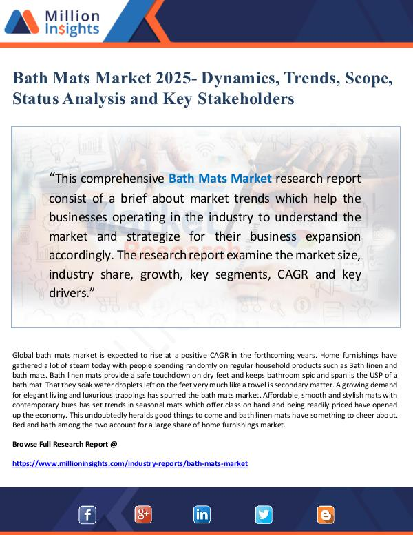 Market Giant Bath Mats Market 2025- Dynamics, Trends, Scope, St
