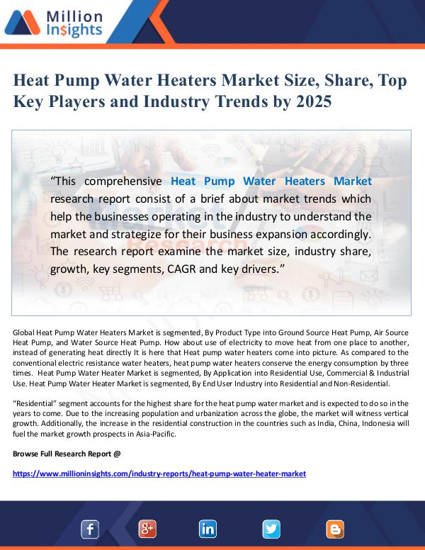 Global Research Heat Pump Water Heaters Market Size, Share, Top Ke