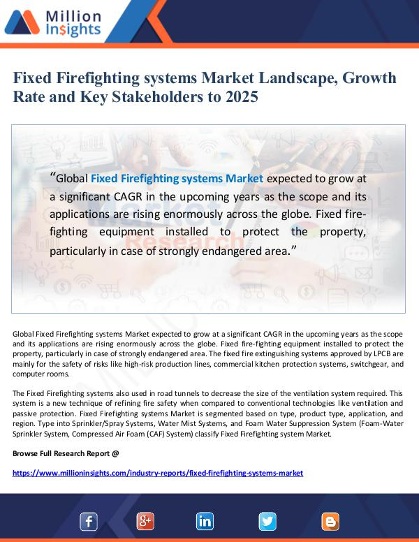 Fixed Firefighting systems Market Landscape, Growt