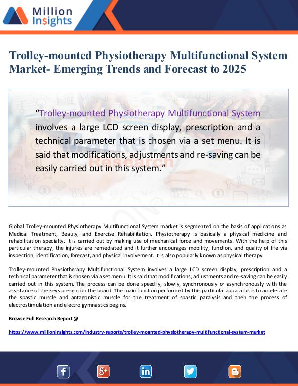 Trolley-mounted Physiotherapy Multifunctional Syst