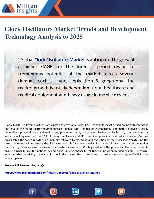 Global Research Clock Oscillators Market Trends and Development Te