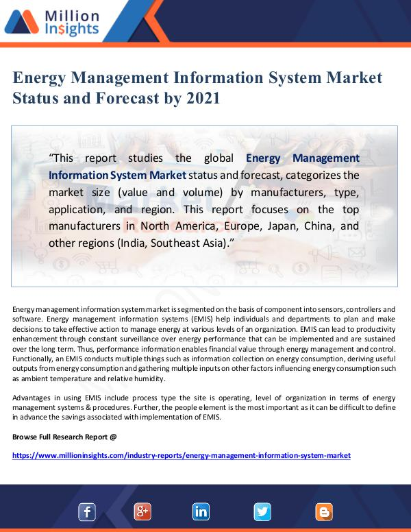 Global Research Energy Management Information System Market Status
