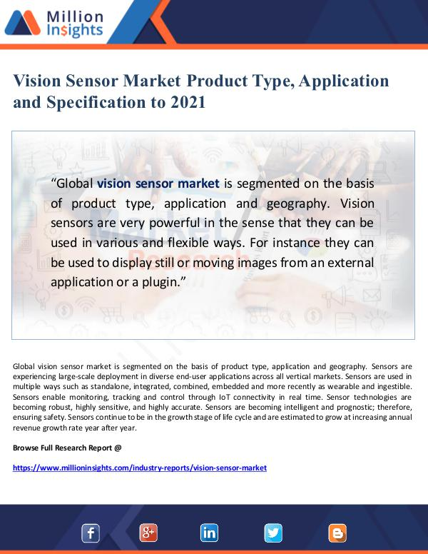 Global Research Vision Sensor Market Product Type, Application and