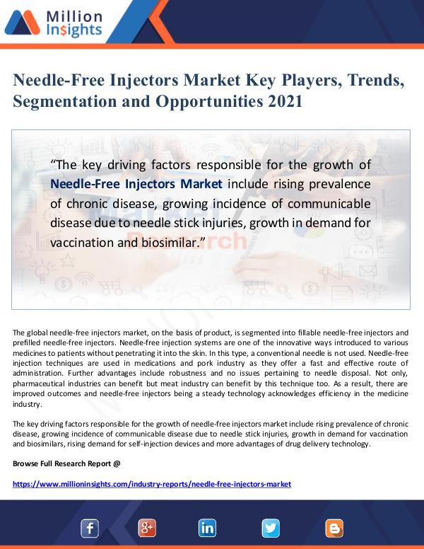 Needle-Free Injectors Market Key Players, Trends,