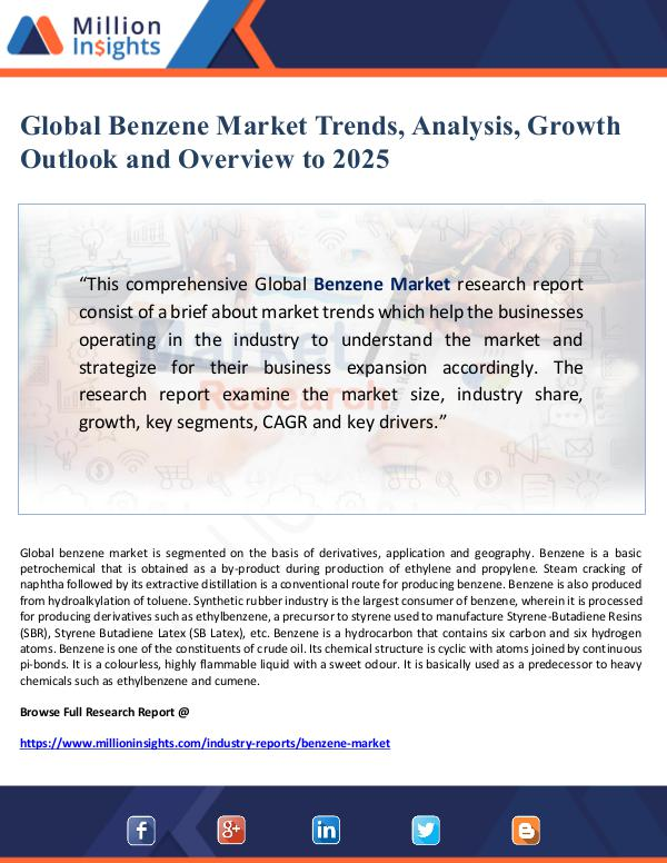 Global Research Global Benzene Market Trends, Analysis, Growth Out