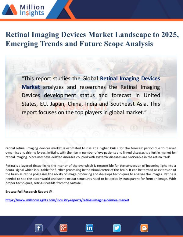 Global Research Retinal Imaging Devices Market Landscape to 2025,