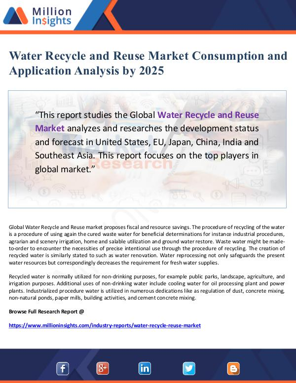 Global Research Water Recycle and Reuse Market Consumption and App
