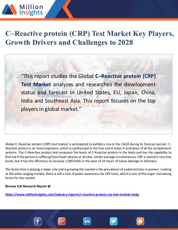 C–Reactive protein (CRP) Test Market Key Players,