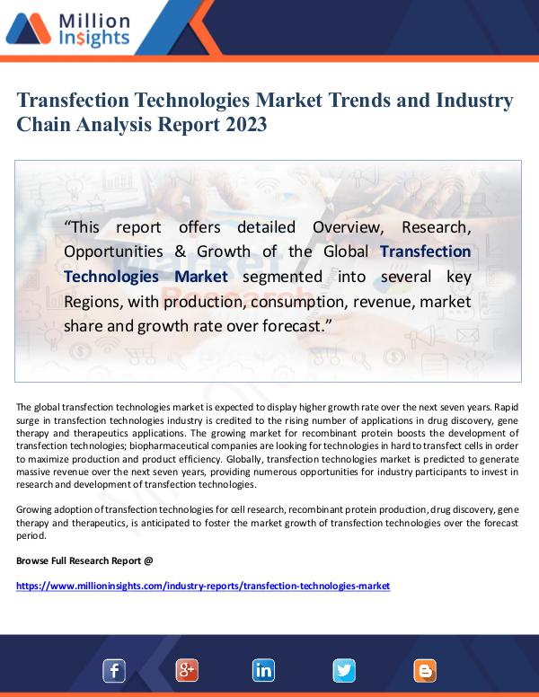 Transfection Technologies Market Trends Forecast