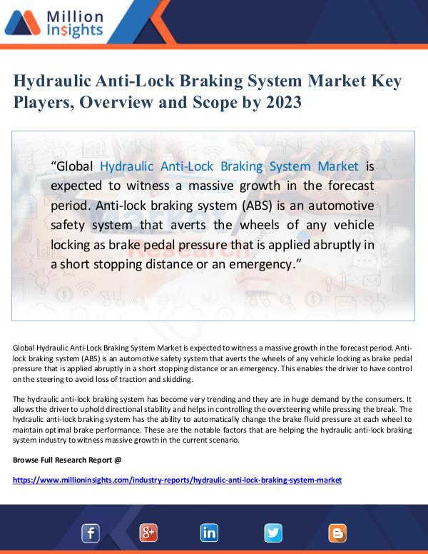 Hydraulic Anti-Lock Braking System Market Key Play
