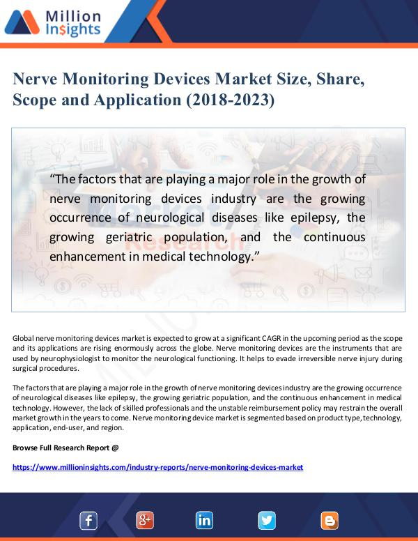 Nerve Monitoring Devices Market Size, Share, Scope