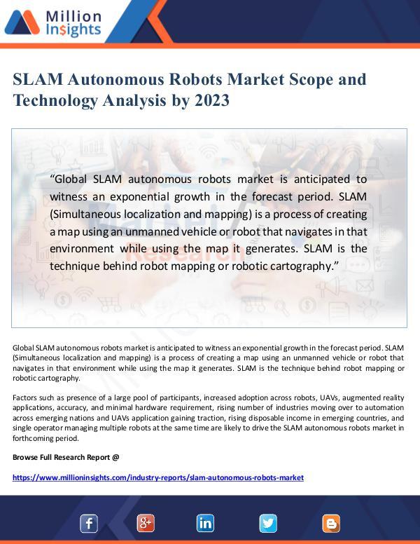 Global Research SLAM Autonomous Robots Market Scope and Technology